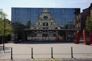Glasfassade Mensa St. Leonhard