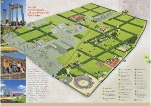 Xanten - Archäologischer Park - Wegweiser