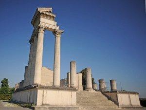 Xanten - archäologischer Park - Teilrekonstruierter Hafentempel