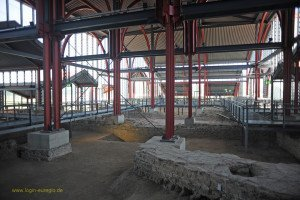 Xanten - archäologischer Park - Römer Museum Reste der Thermenanlage großes Stadtbad