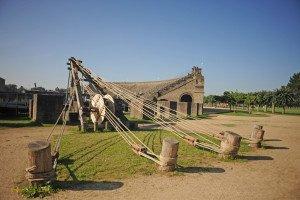 Xanten - Archäologischer Park - Hebeeinrichtung