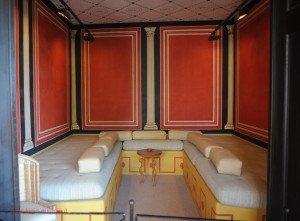 Xanten - archäologischer Park - Zimmer in der römischen Herberge