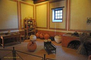 Xanten - Archäologischer Park - Küche in der römischen Herberge