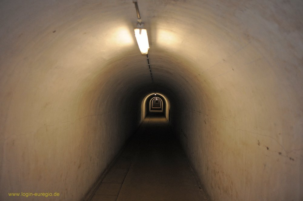Fort Eben Emael: in einem der endlosen Gänge