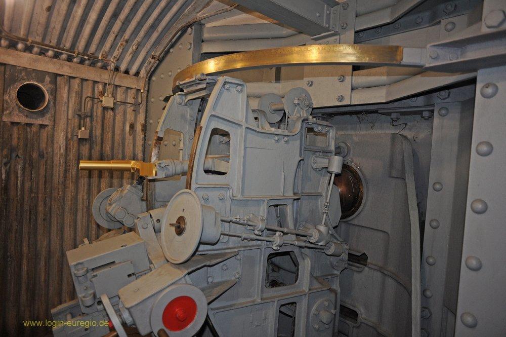 Fort Eben Emael: Schnellfeuergeschütz 75 mm in Panzerkuppel