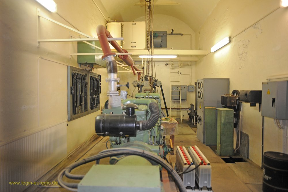 Fort Eben Emael: im Maschinenraum