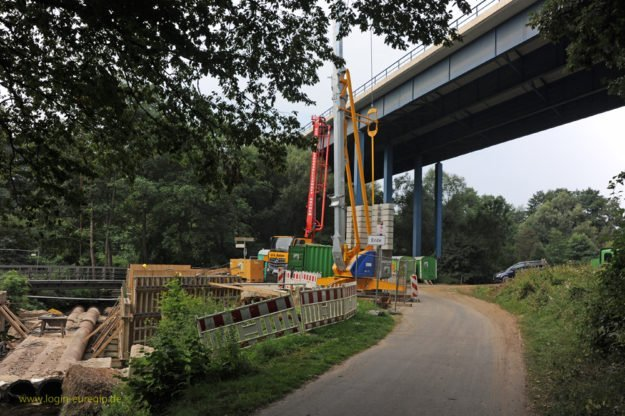 Haarbachtalbrücke - Vorarbeiten zur Brückensanierung