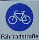 Schild Fahrradstraße